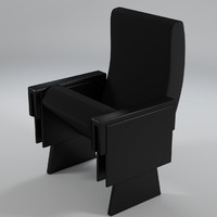 3d theater armchair 2 uv-unwrapped model