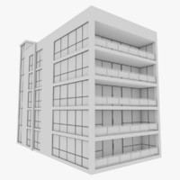 3d modern apartment building exterior