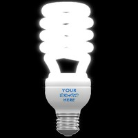 light bulb fluorescent ge 3d obj