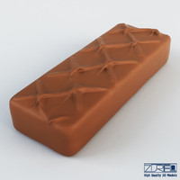 milky way chocolate bar 3d model