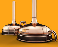 3d copper beer kettle model