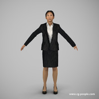 3d people rig animation model