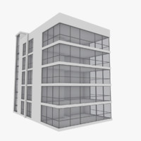 3d model modern apartment building exterior