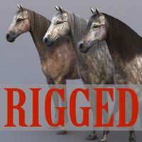 3d model horse rig