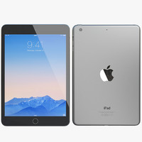realistic apple ipad mini 3d model