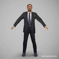 people rig animation 3d model