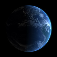 earth atmosphere 3d model