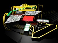 3d sets studio design model