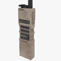 military harris radio 3d model