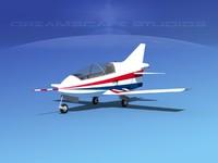 3d model plane bd-5 bede bd-5j