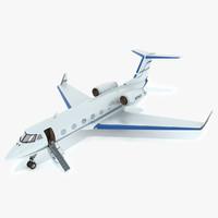 aeroplane gulfstream c-20dr private jet 3d max