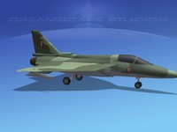 3d model tejas hal fighter