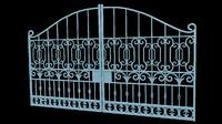 3d model iron gate