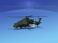 3d model wz-10 attack helicopters z-10