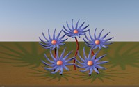 space flower 3d model