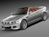 3d lw convertible bmw 2000