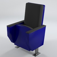 3d theater armchair uv-unwrapped model