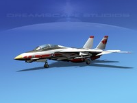 3d grumman tomcat f-14d fighter aircraft model