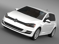 3d model volkswagen golf tsi 5d
