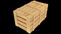 3ds uv wooden crate asset