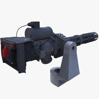 3d minigun mini gun model