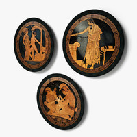 Decorative Greek Wall Dishes
