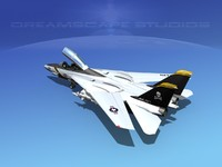 3d grumman f-14-d tomcat fighter aircraft