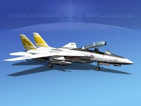 grumman tomcat f-14d fighter aircraft 3ds