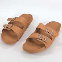 3ds max uv-unwrapped sandals shoes footwear