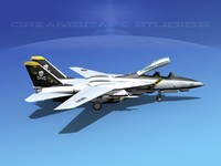 3d grumman tomcat f-14d fighter aircraft