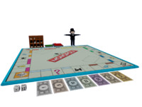 monopoly mr pieces 3d max