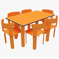 3ds dining table chairs-1 chairs