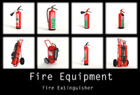 3ds max extinguisher flames office