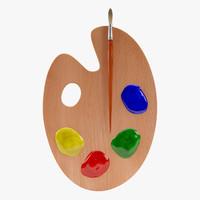 3d palette model