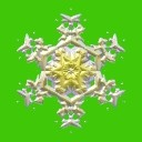 snowflake isolated on green free