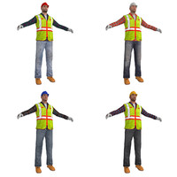 3d model pack worker s man
