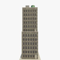 skyscraper apartments offices 3d fbx