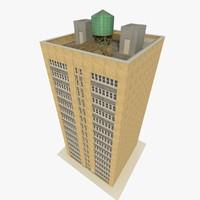 3d skyscraper apartments offices model