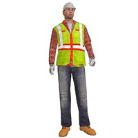 rigged worker 3d max