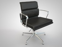 meeting chair style charles eames 3d model