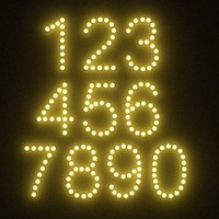 3d model numbers light bulbs