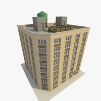 skyscraper apartments offices 3d model