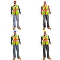 3d rigged worker s man model