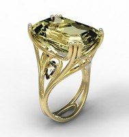 Ring gold citrine