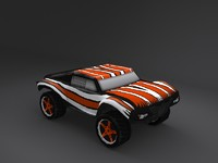 3d model of nitro rc car