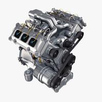 engine v6 3d model
