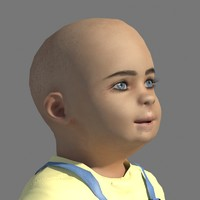 3d child kid boy model