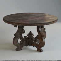 French Country Round Table (Dinning) 01