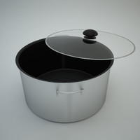 cooking pot glass - 3d model