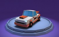 car muscle 3d model